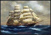 Needlework for embroidery DIY DMC High Quality - Counted Cross Stitch Kits 14 ct Oil painting - Norwegian Ship