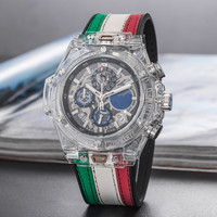 Sport Men's Luxury Brand Famous Unique Designer Quartz Watch Male Watch Silica Men Relogio Masculino Stop Watch Six Needle