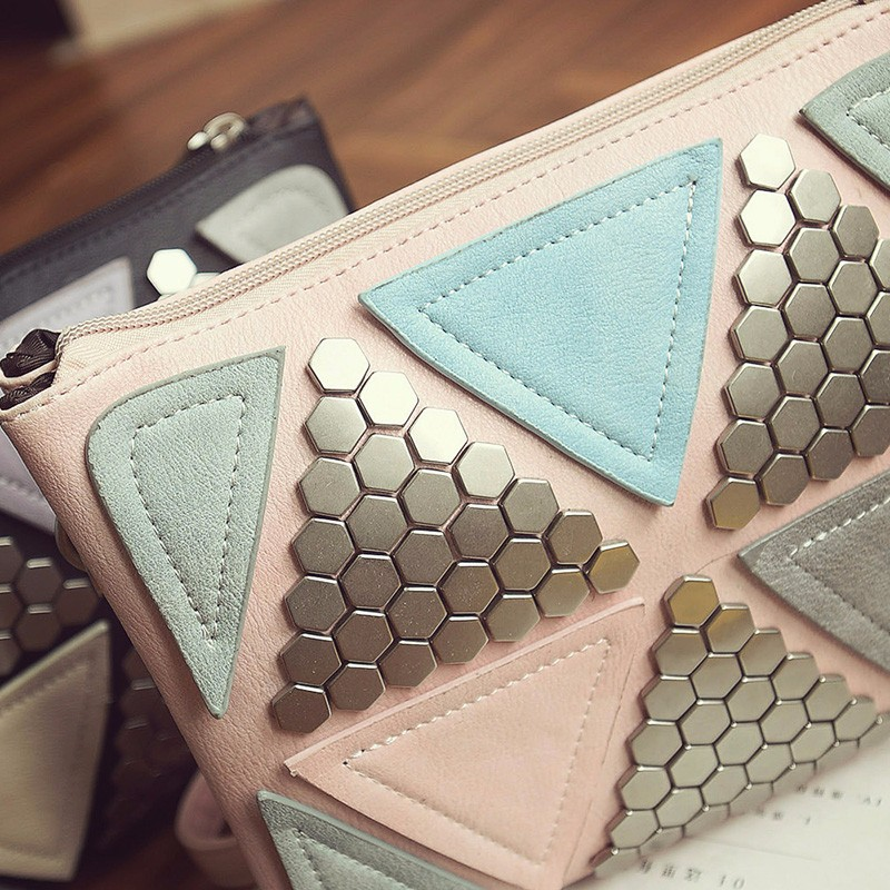 famosa marca de luxo rebite Designer Handbags High Quality : Rivet Envelope Bag Ladies PU Leather Bag