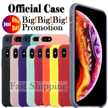 Have original Logo official silicone case for Apple iPhone 7 8 Plus back case for iPhone X Xs Max XR 5 5S SE 6 6S Plus with Box