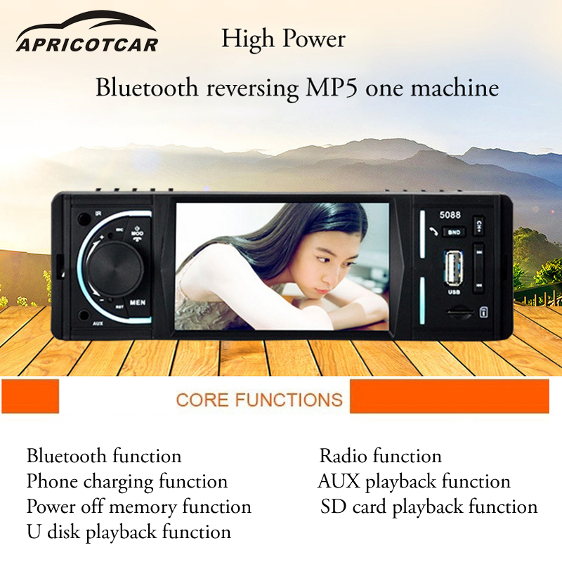 4.2 Inch Car MP5 Car MP4 High-definition Video MP3 Card Host Radio U Disk Player Stereo AUX USB Bluetooth FM Reversing Machine