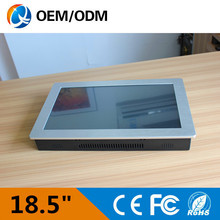 18.5 inch industrial touch screen panel pc Resolution 1366×768 mini industrial pc all in one copmuter with Intel D525 1.8GHz