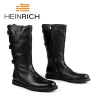 HEINRICH 2018 Top Brand Men Boots Trend Leisure Winter Shoes Men Leather Lightweight High Top Classic Boots Laarzen Dames