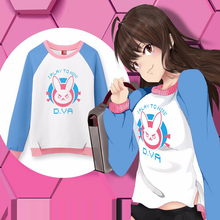 Free Shipping Women Anime Game OW Cute D.VA Sweater Cosplay Costume Fashion Pullover Unisex