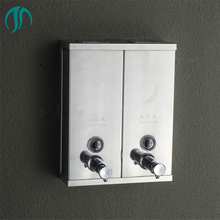 1500 ml נירוסטה זוגי מקלחת מכשירי נוזל סבון Dispenser קיר רכוב שמפו מתקן כפול סבון Dispenser