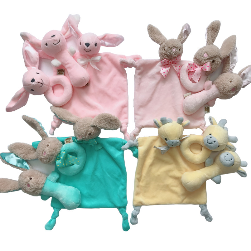 Newborn Baby Toys 0-12 Months Rabbit/deer/elephant Soft Plush Rattles For Baby Educational/developmental/music/mobile Baby Toys