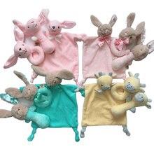 Купить с кэшбэком Newborn baby toys 0-12 months rabbit/deer/elephant soft plush rattles for baby educational/developmental/music/mobile baby toys