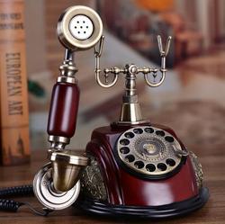 Europeu antigo conjunto de telefone clássico rotativo dial telefone resina telefone clássico