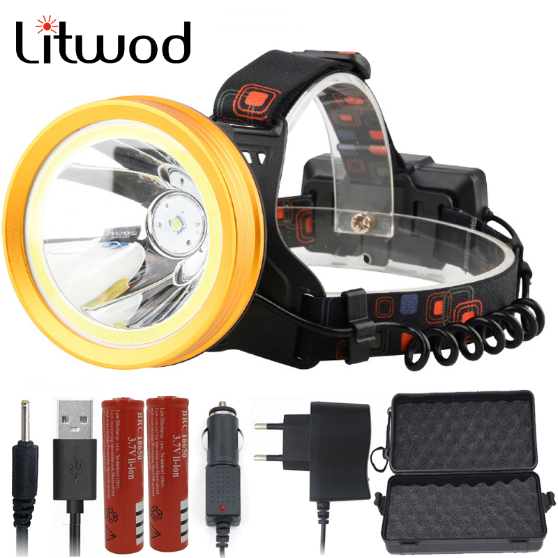 Litwod Z10 136 & 9010 LED headlamp XM-L T6 & COB Aluminum cup 18650 Battery reflector Head Lamp  torch Powerful headlightLitwod Z10 136 & 9010 LED headlamp XM-L T6 & COB Aluminum cup 18650 Battery reflector Head Lamp  torch Powerful headlight