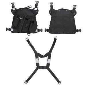 Image 5 - Нагрудный ремень для радиоприемника, нагрудная сумка для передней сумки, кобура, жилет для переноски парча для двухсторонней радиосвязи Baofeng TYT d xun Moto Walkie Talkie