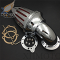 Mercado de accesorios envío gratis piezas de la motocicleta Harley S & S encargo CV EVO XL Sportster filtro aire kits CHROME