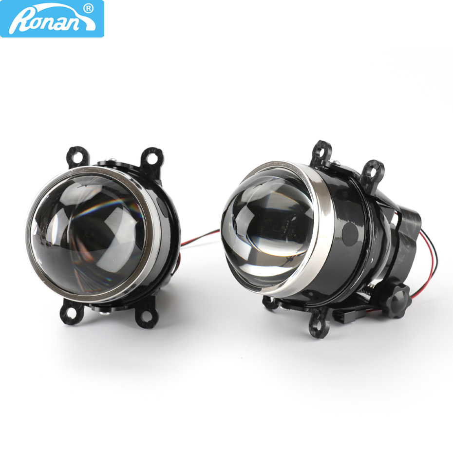 RONAN 3.0 Inch G2 Type Adjustment Bracket HD Bi Xenon Fog Light Waterproof Projector Lens D2S D2H H11 Lamps For Ford SUBARU