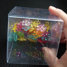 200pcs Clear PVC Square Gift Boxes Transparent Waterproof Packing Souvenir Box for Wedding/jewelry/Candy/toys Party Supply