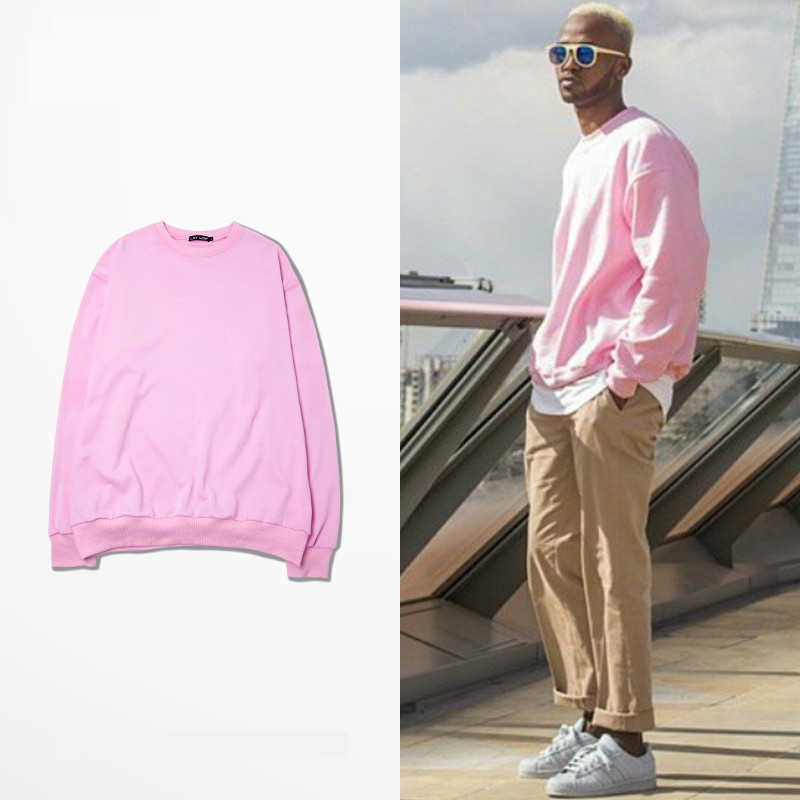 PROVERGOD Wow Fashion Pink Men Sweatshirts Hiphop High End Custom ...