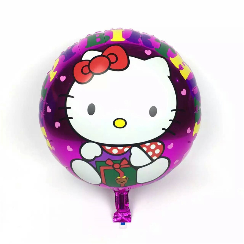 50pcs/lot Pink Foil Cat Balloons Happy Birthday Balloons Gift Party Supply 45*45cm Wholesale