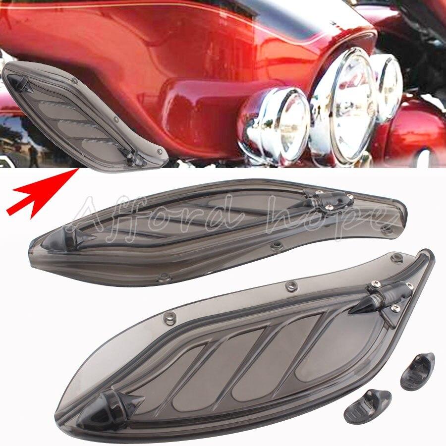 Pare-brise latéral pare-brise en plastique Creens déflecteurs carénage réglable pour Harley Touring Tri Electra Street Glide 1996-2013