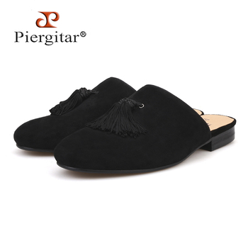 Designs Handmade men velvet slippers with tassel Fashion party and banquet half designs tassel men's loafers