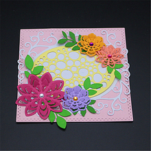 AZSG Flower border Metal Cutting Mold DIY Scrapbook Album Decoration Supplies Clear Stamp Paper Card