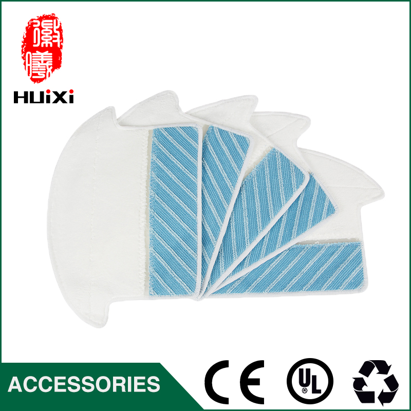 5pcs White and Blue Mop Cloth Dishrag Replacement for Robotic Cleaner Accessories for 800-EG 810 830 CEN82 Vacuum Cleaner