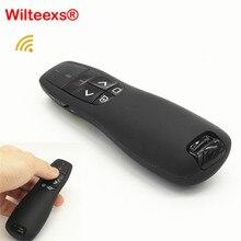 WILTEEXS כף יד USB Wireless Presenter R400 2.4 Ghz שלט רחוק עם אדום מצביע לייזר עט לpowerpoint PPT מצגת
