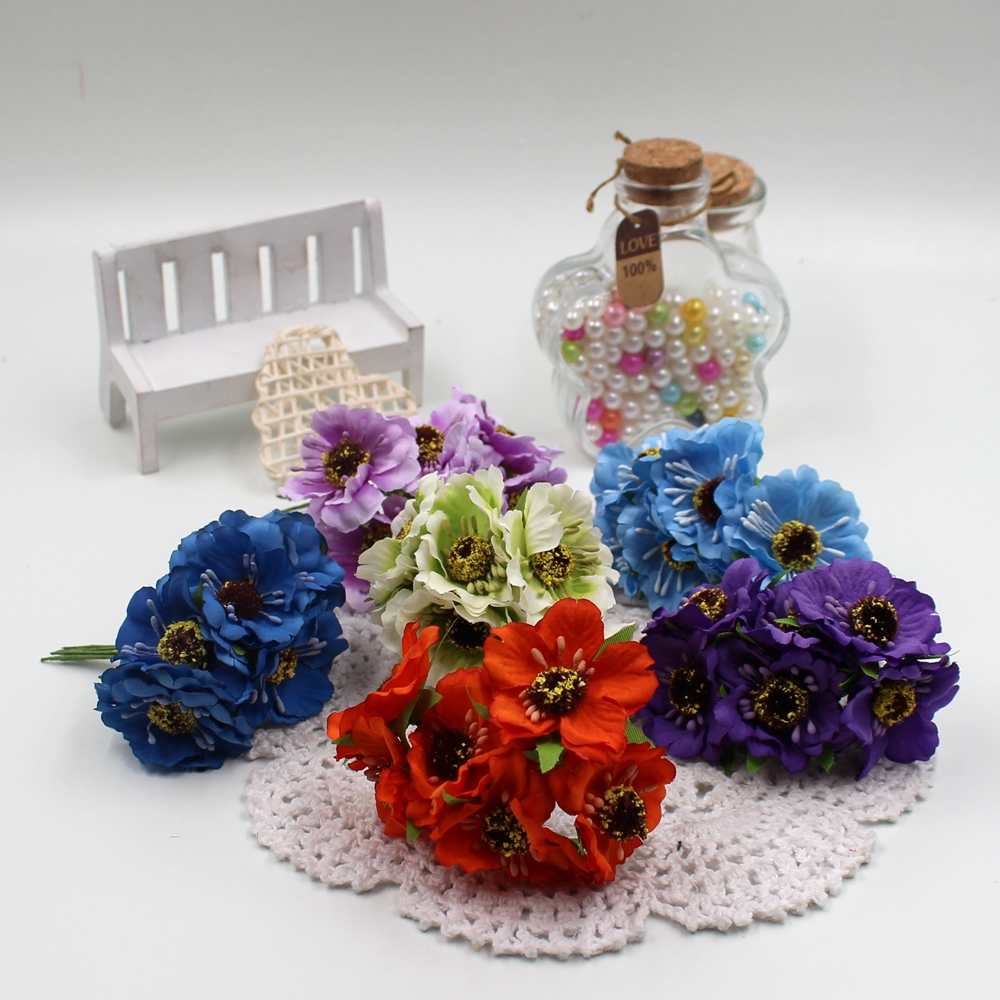 Aliexpress Buy Cheap 12pcs Silk Artificial Cherry Fake Flowers