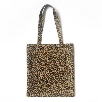 Women Canvas Shoulder Bag Messenger Girls Leopard Print Hobo Purse Satchel Tote Handbag casual women s tote bag with leopard print and canvas design