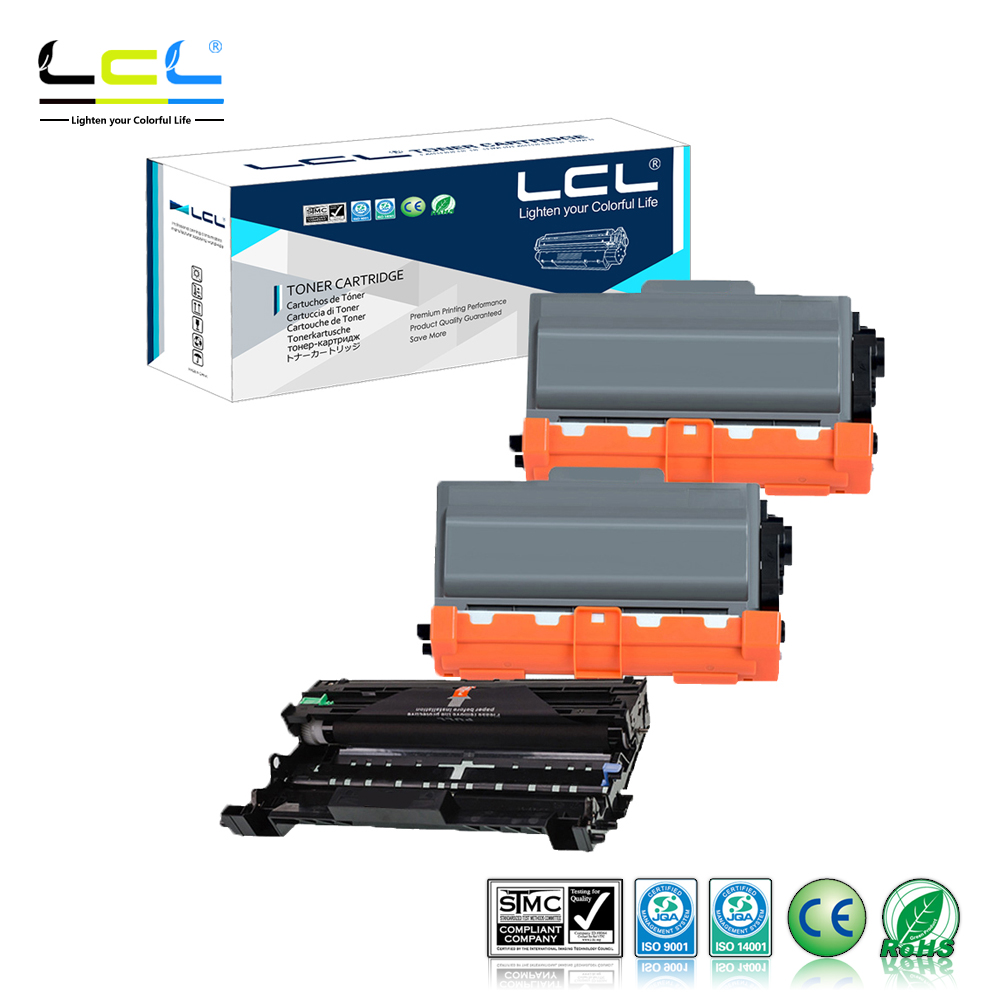LCL TN750 TN720 TN3380 TN3330 TN3340 3310 TN-56J TN-53J DR720 DR3300 DR3325 (3-Pack) Toner Compatible for Brother Printer