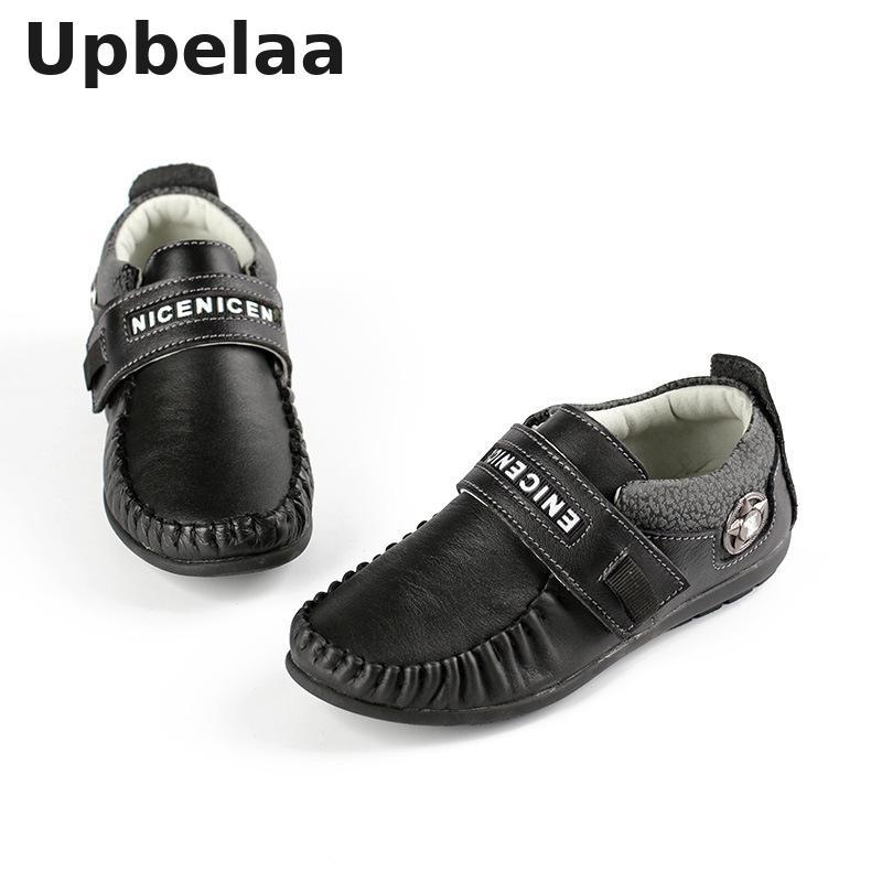 Kids Shoes For Boys Genuine Leather Oxford Shoe Children Peas Shoes School Black Loafer Moccasins Wedding British Gentleman New