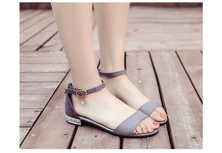 YENI metal Dize Boncuk Yaz Kadın Sandalet Açık Ayak ayakkabı bayan Sandalet Kare topuk Kadın Ayakkabı Kore Tarzı Gladyatör ayakkabı