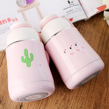 1PC Vacuum Flask Cute Thermal Cup Coffee Mugs Thermos Bottles Water Bottle Cup Travel Mugs Water Cups Thermo Cup NQ 001 manual cylinder screen printing machine for bottles mugs cups silicon wristbands pens