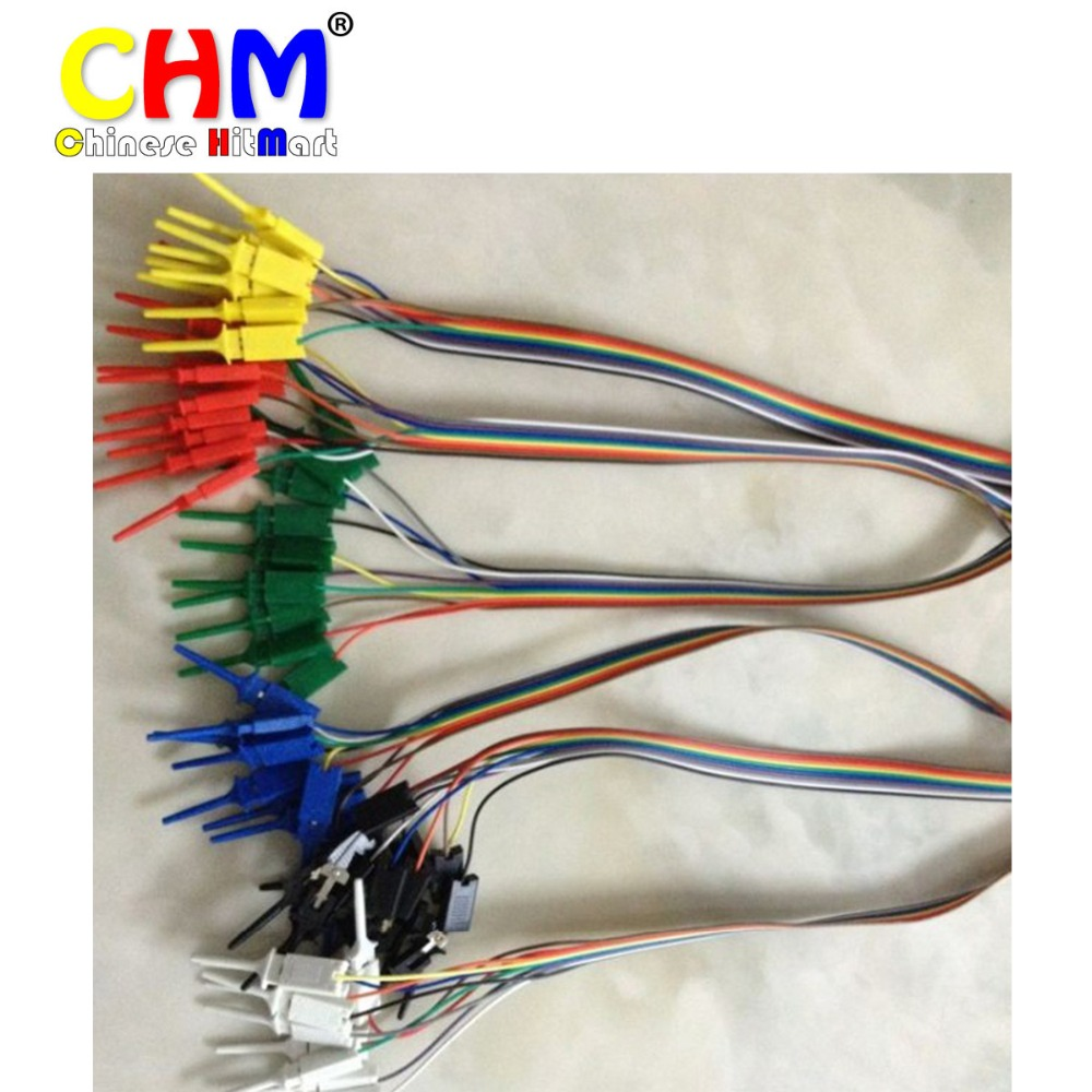 20pcs Test Hook Clip Grabbers Test Probe 6 Colors Red Black Yellow Green Blue White #bp1610028