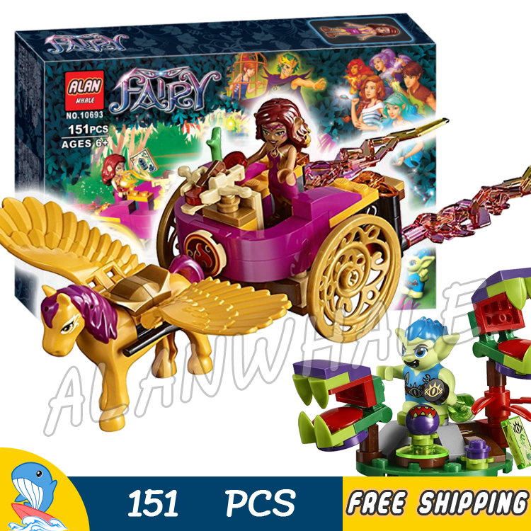 151pcs Elf Azari & the Goblin Forest Escape 10693 Model Building Blocks Children Fairy Princess Toys Compatible with Lego Elves hot nuevo 10415 elfos azari aira naida emily jones cielo fortaleza castillo building block toys