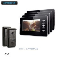 HOMSECUR 2V4 Door Phone Intercom kit With Intra monitor Audio Interaction for Your Home Security