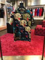 BA06136Fashion Men's Tops & Tees 2018 Runway Luxury Brand European Design Short O neck Print party style T Shirts Men's Clothing