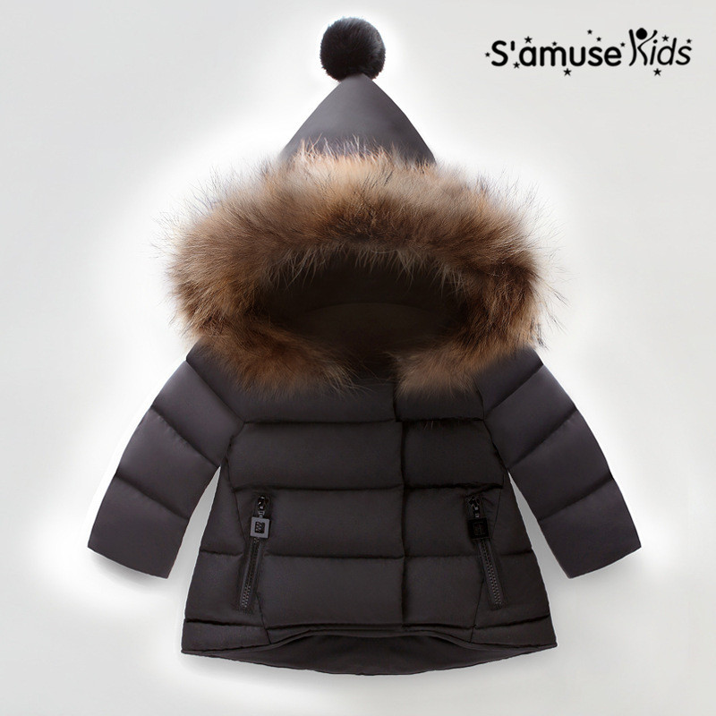 Baby Girls Hooded Down Coat Winter Outerwear & Coats Kids Thicken Parkas Jacket Clothes Christmas Warm Clothing 2015 new hot winter thicken warm woman down jacket coat parkas outerwear hooded loose slim plus size 2xxl long luxury cold red