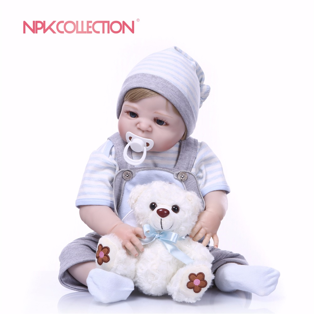 NPKCOLLECTION Full Silicone Body Girl Reborn Doll Alive Baby puppy Toys Lifelike Princess Xmas Fashion Doll Bebes Reborn Menina-in Dolls from Toys & Hobbies    3