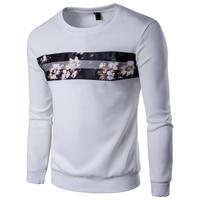 Herbst Neue Sweatshirt Männer 2017 Marke Blume Gedruckt Herren Sweatshirts Lässige Hip Hop Runder Kragen Baseball Schweiß Homme 5XL