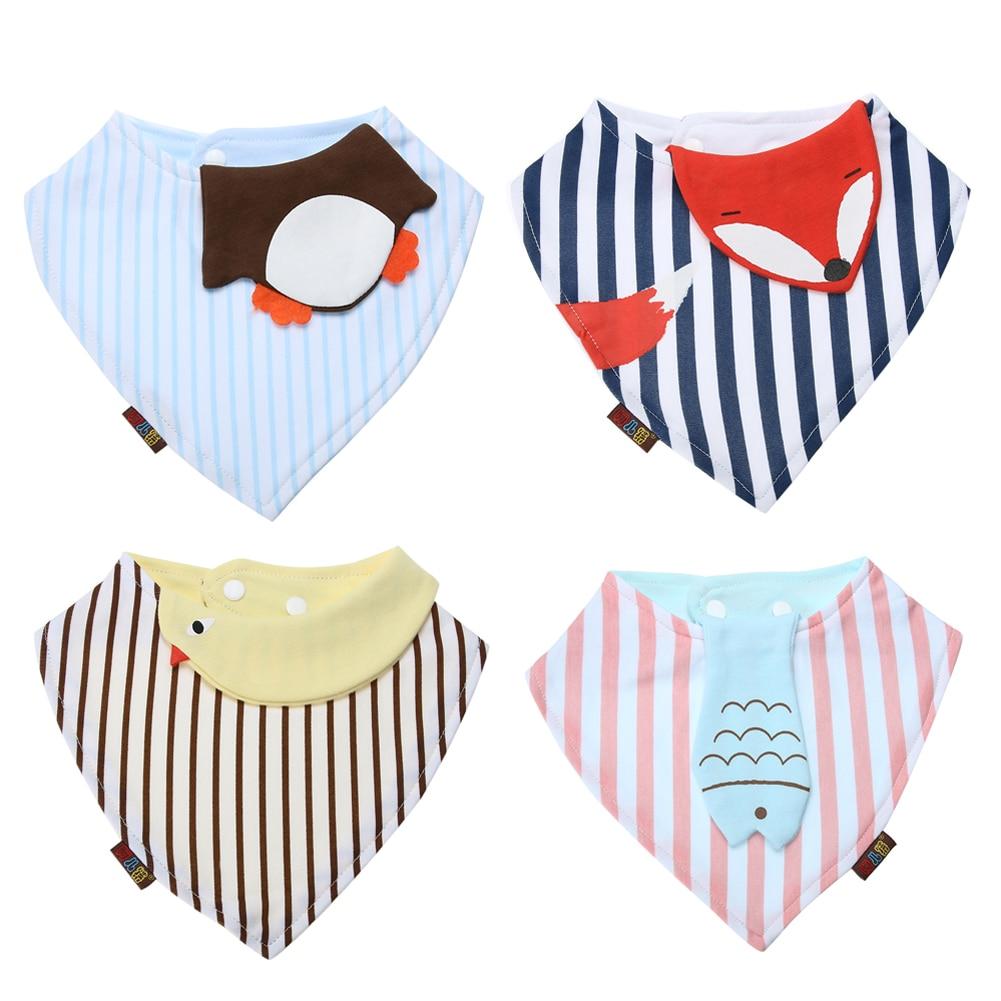 Newborn Baby Cotton Bibs Cartoon Animal Print Saliva Towel Toddler Kids Triangle Scarf I ...