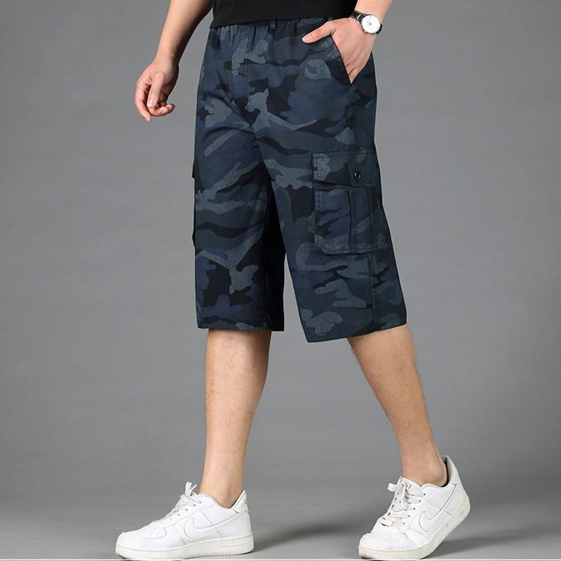 Cotton  Mens Cargo  Shorts Male Loose Camouflage Military  Plus Size Men Short Trousers M 3xl 6xl 7x L 8xl Shorts Men Pockets