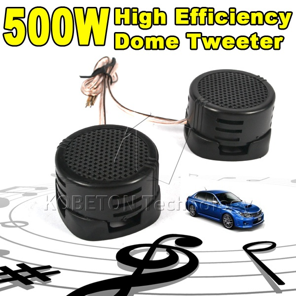 Newest 2pc 500W Car Mini Dome Tweeter Loudspeaker High Pitch speaker Super Power Audio Auto Sound Speaker for car