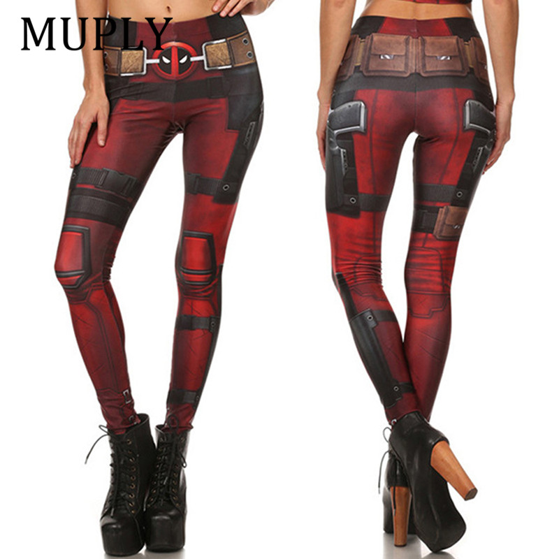 New Fashion Sexy Women leggings Super Hero Deadpool Leggings 3d Digital Printed legging Woman Pants Plus size Workout Pant