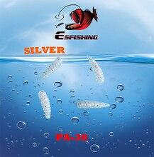 100pcs Esfishing Bread Worm Fishing Lure Soft lure Maggot 0.6″ Ice Fishing Bait Fishing Equipment Wholesale Silicone Bait Pesca