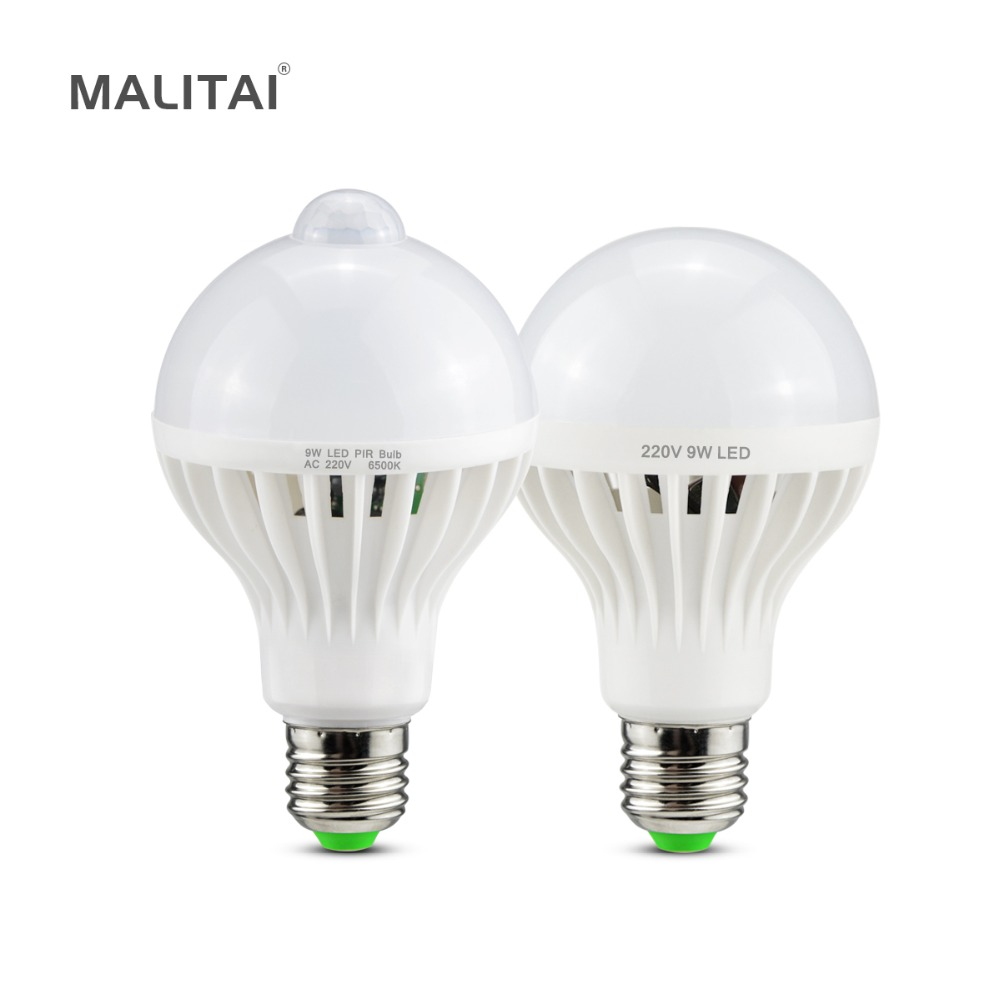 Buy Cheap 2pcs 12w Smd5730 Led Bulb Motion Sensor Smart Pir Lamp E26 E27 Auto On/off Infrared Night Lighting Ac85~265v With The Most Up-To-Date Equipment And Techniques Light Bulbs