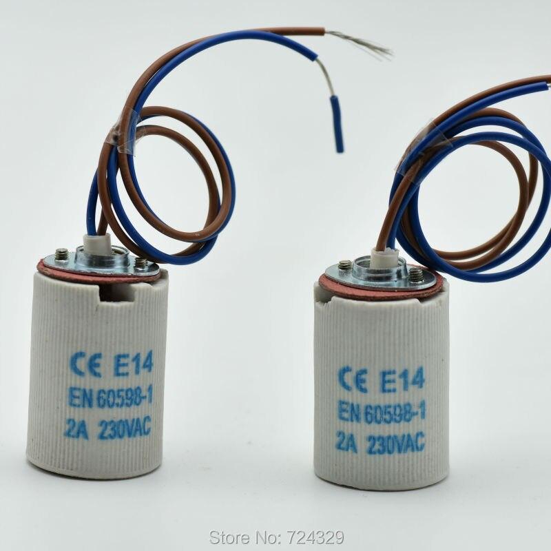 E14 Lampensockel mit 25 cm Draht Kronleuchter Gewidmet Keramik ...