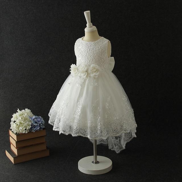 3eea51978 2018 Partido Blanco Vestido Formal niñas elegante princesa boda flor chica Vestido  niños ropa 4 6