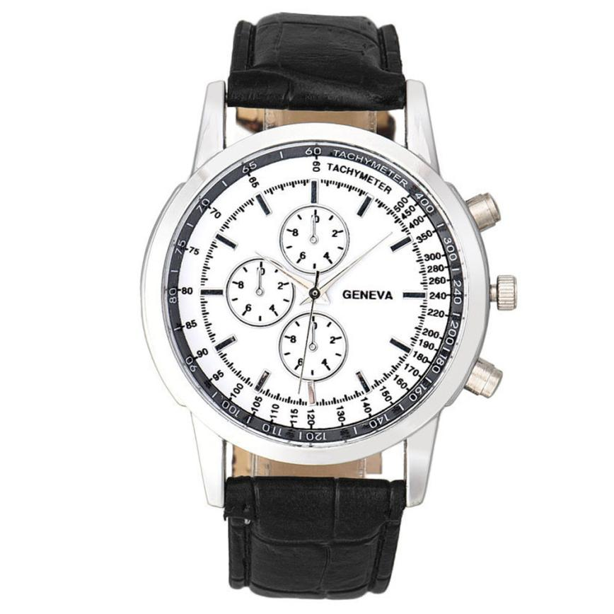 Reloj Hombre Watch Men Business Design Dial PU Leather Band Mens Watches Top Brand Luxury Analog Quartz Watch Montre Homme #A fashion casual quartz watch for men oversize stainless steel case leather strap simple analog dial reloj hombre montre homme