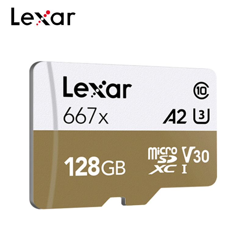 Lexar Professional 667x MicroSDXC UHS-I Memory Card 128GB 256GB 64GB V30 A2 Micro SD Card C10 100MB/s TF Card For Full-HD 3D 4K