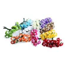 1.5cm head Mini Double Colors Artificial Paper Flowers New Style Used For Decorative Gift