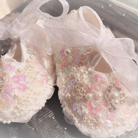 All Covered Jelly AB Rhinestones Bling Ballerina Sparkle Baby Christening Stunning Pram Shoes Keepsake Gift Infant