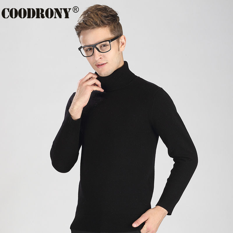 High Quality Winter Thick Warm Merino Wool Turtleneck Sweater Men Brand Clothing Pure Cashmere Pullover Slim Fit Pull Homme 6311